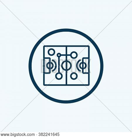 Tactic Icon Isolated On White Background From Basketball Collection. Tactic Icon Trendy And Modern T