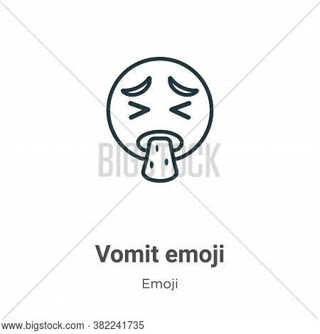 Vomit emoji icon isolated on white background from emoji collection. Vomit emoji icon trendy and mod