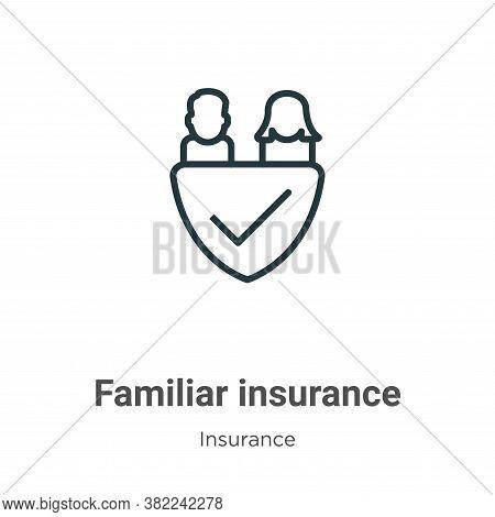 Familiar insurance icon isolated on white background from insurance collection. Familiar insurance i