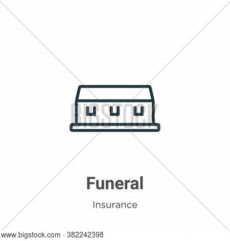 Funeral icon isolated on white background from insurance collection. Funeral icon trendy and modern