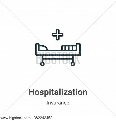 Hospitalization icon isolated on white background from insurance collection. Hospitalization icon tr