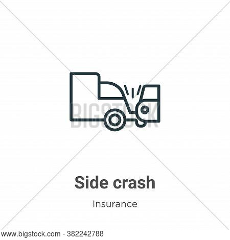 Side crash icon isolated on white background from insurance collection. Side crash icon trendy and m