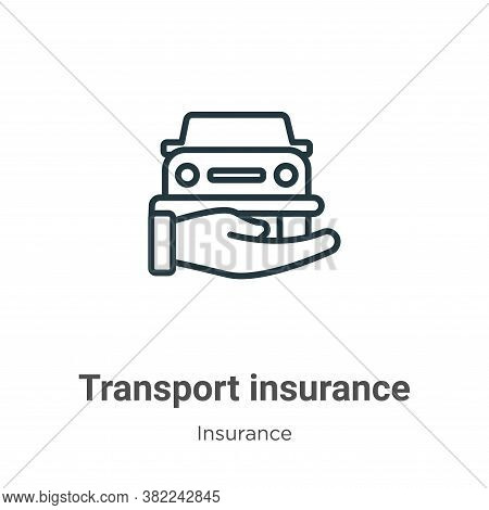 Transport insurance icon isolated on white background from insurance collection. Transport insurance
