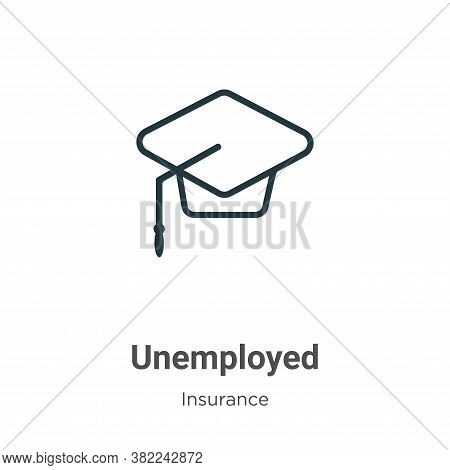 Unemployed icon isolated on white background from insurance collection. Unemployed icon trendy and m