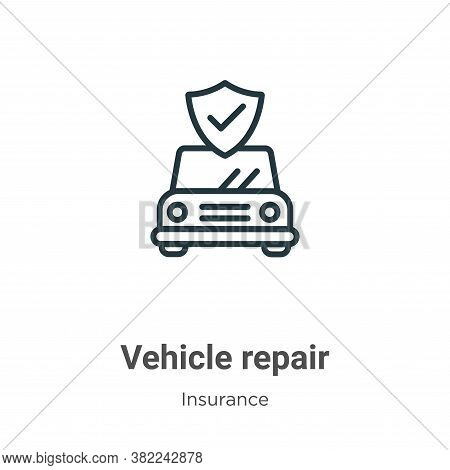 Vehicle repair icon isolated on white background from insurance collection. Vehicle repair icon tren