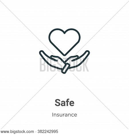 Safe icon isolated on white background from insurance collection. Safe icon trendy and modern Safe s