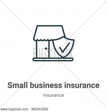 Small business insurance icon isolated on white background from insurance collection. Small business