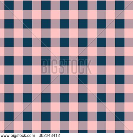 Coral And Navy Blue Buffalo Plaids In Modern Colors For 12x12 Digital Paper Or Background Design Ele