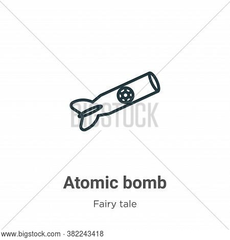 Atomic bomb icon isolated on white background from fairy tale collection. Atomic bomb icon trendy an