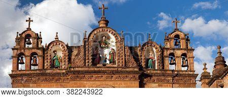 Catholic Catedral On Main Square Plaza De Armas In Cusco Or Cuzco Town, Peru