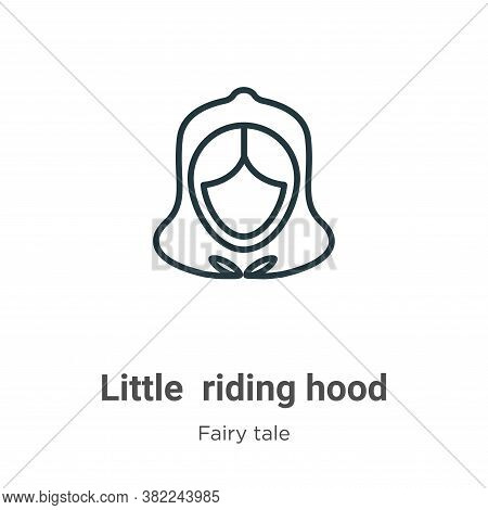 Little red riding hood icon isolated on white background from fairy tale collection. Little red ridi