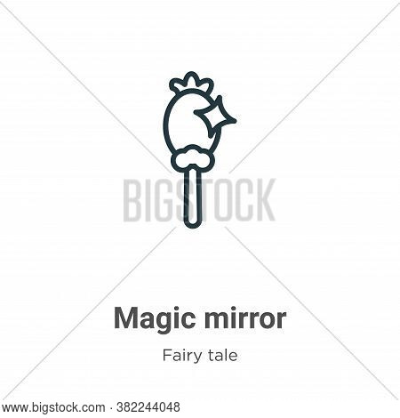 Magic mirror icon isolated on white background from fairy tale collection. Magic mirror icon trendy