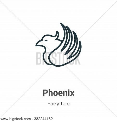 Phoenix icon isolated on white background from fairy tale collection. Phoenix icon trendy and modern