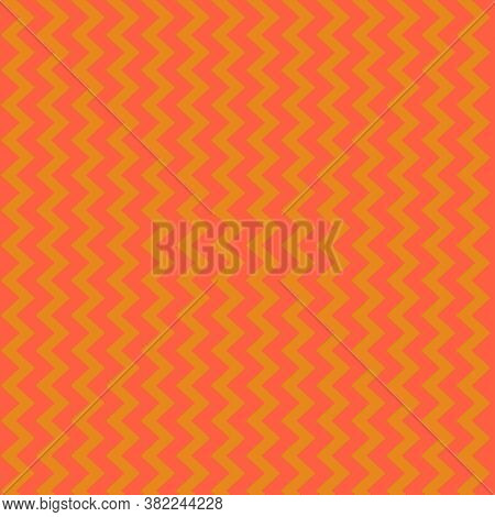 Orange Chevron Pattern In 12x12 Design Elements With Vertical Zigzags For Backgrounds And Projects.