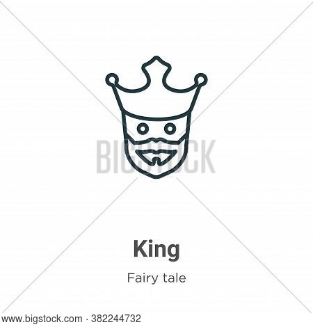 King icon isolated on white background from fairy tale collection. King icon trendy and modern King