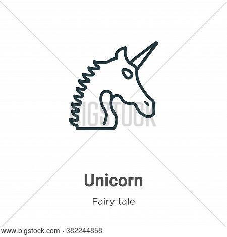 Unicorn icon isolated on white background from fairy tale collection. Unicorn icon trendy and modern