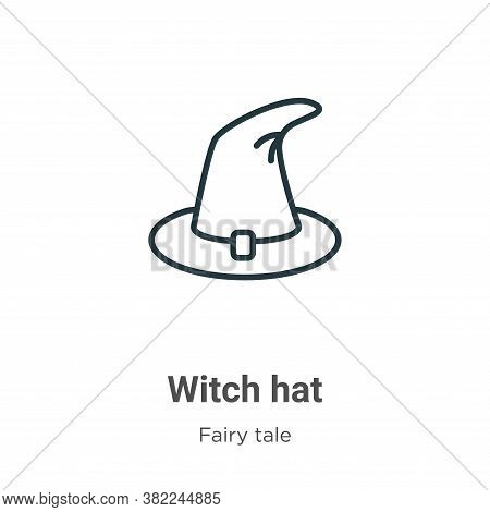 Witch hat icon isolated on white background from fairy tale collection. Witch hat icon trendy and mo