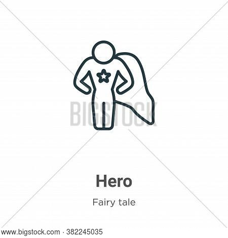 Hero icon isolated on white background from fairy tale collection. Hero icon trendy and modern Hero