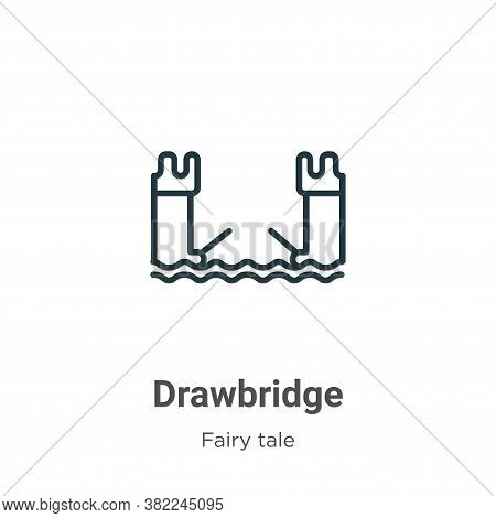 Drawbridge icon isolated on white background from fairy tale collection. Drawbridge icon trendy and