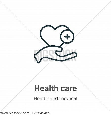 Health care icon isolated on white background from health and medical collection. Health care icon t