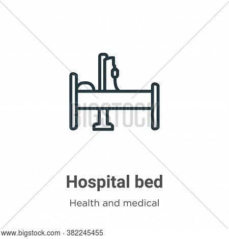 Hospital bed icon isolated on white background from health and medical collection. Hospital bed icon