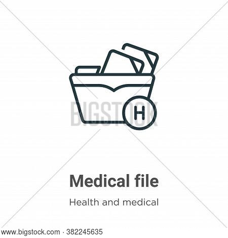 Medical file icon isolated on white background from health and medical collection. Medical file icon