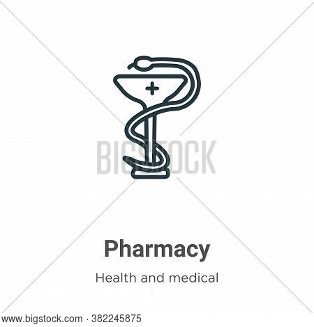 Pharmacy icon isolated on white background from health and medical collection. Pharmacy icon trendy