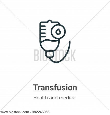 Transfusion icon isolated on white background from health and medical collection. Transfusion icon t
