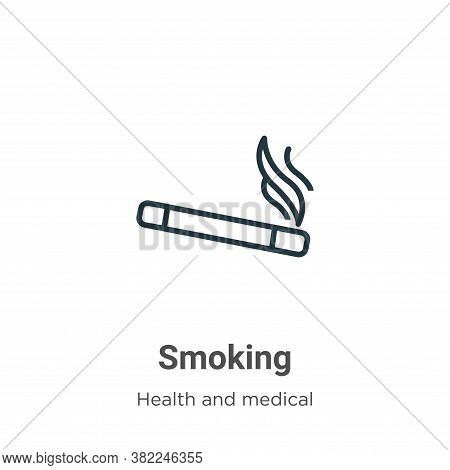 Smoking icon isolated on white background from health and medical collection. Smoking icon trendy an