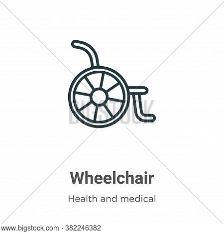 Wheelchair icon isolated on white background from health and medical collection. Wheelchair icon tre
