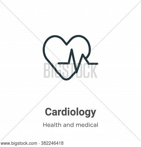 Cardiology icon isolated on white background from health and medical collection. Cardiology icon tre