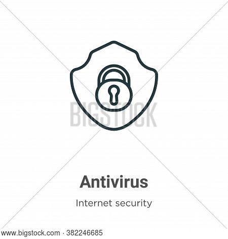 Antivirus icon isolated on white background from internet security collection. Antivirus icon trendy