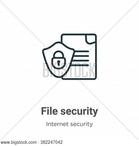 File security icon isolated on white background from internet security collection. File security ico