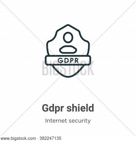 Gdpr Shield Icon From Internet Security Collection Isolated On White Background.