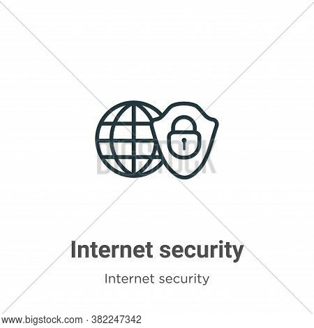 Internet security icon isolated on white background from internet security collection. Internet secu