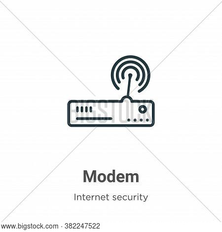 Modem icon isolated on white background from networking collection. Modem icon trendy and modern Mod