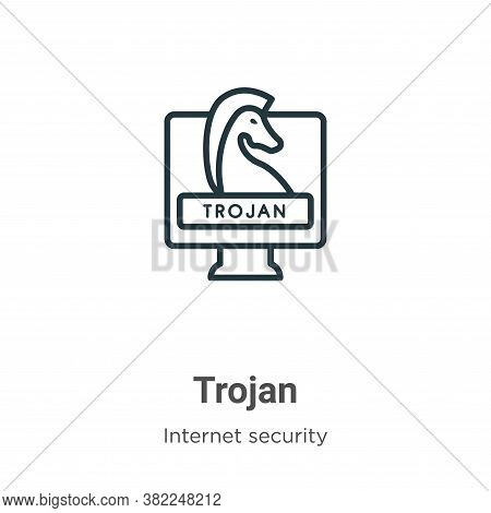 Trojan icon isolated on white background from internet security collection. Trojan icon trendy and m