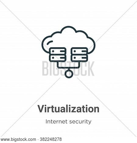 Virtualization icon isolated on white background from networking collection. Virtualization icon tre