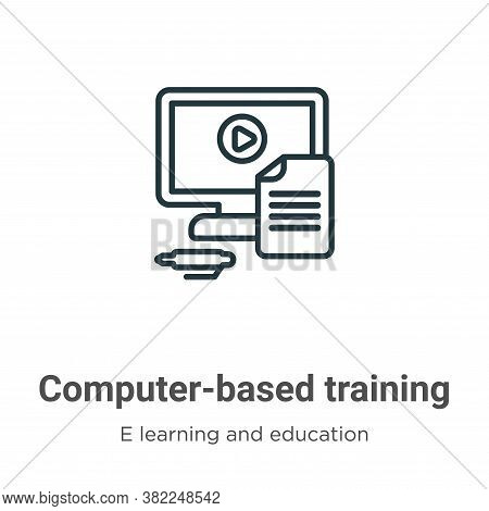 Computer-based training icon isolated on white background from e learning and education collection.