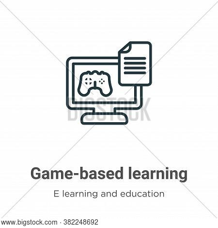 Game-based learning icon isolated on white background from e learning and education collection. Game