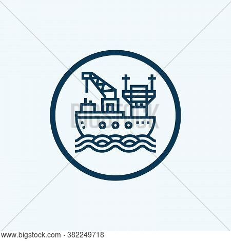 Oil Tanker Icon In Two Color Design Style. Oil Tanker Vector Icon Modern And Trendy Flat Symbol For