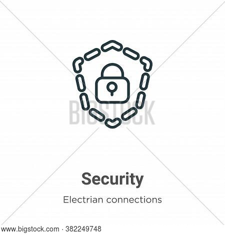 Security icon isolated on white background from electrian connections collection. Security icon tren
