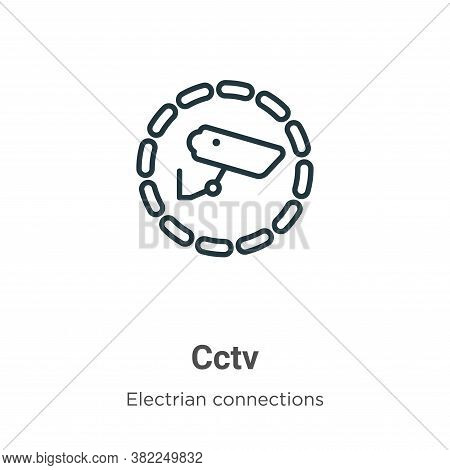 Cctv icon isolated on white background from electrian connections collection. Cctv icon trendy and m