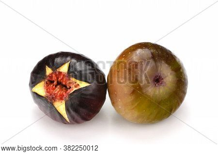 Fresh Ripe Figs On The White Background