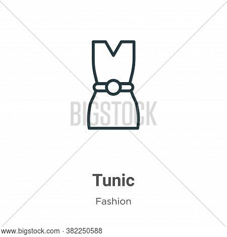 Tunic icon isolated on white background from fashion collection. Tunic icon trendy and modern Tunic