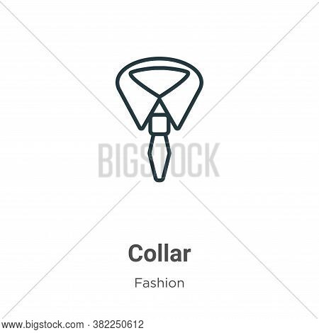 Collar icon isolated on white background from fashion collection. Collar icon trendy and modern Coll