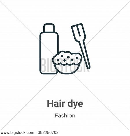 Hair dye icon isolated on white background from fashion collection. Hair dye icon trendy and modern
