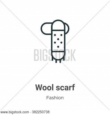 Wool scarf icon isolated on white background from fashion collection. Wool scarf icon trendy and mod