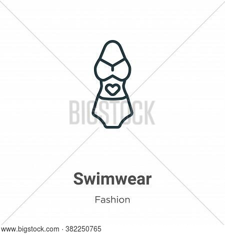 Swimwear icon isolated on white background from fashion collection. Swimwear icon trendy and modern