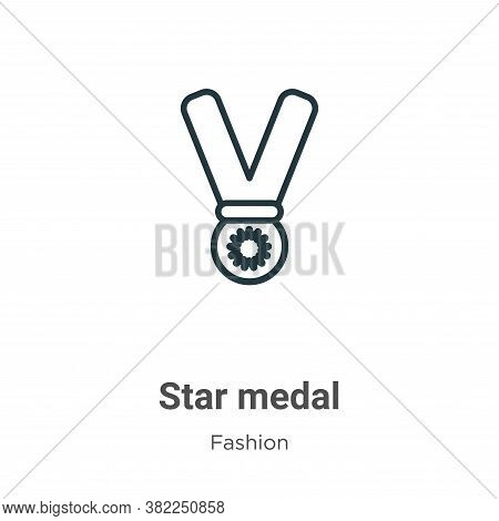 Star medal icon isolated on white background from fashion collection. Star medal icon trendy and mod